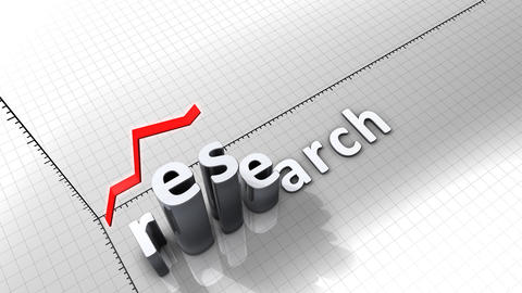Growing chart graphic animation, Research Animation