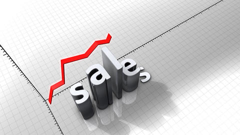 Growing chart graphic animation, Sales Animation