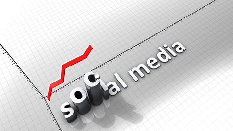 Growing Chart Graphic Animation, Social Media stock footage