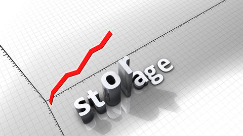 Growing Chart Graphic Animation, Storage stock footage