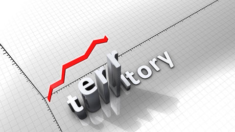 Growing chart graphic animation, Territory Animation
