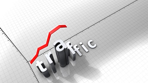 Growing chart graphic animation, Traffic Animation