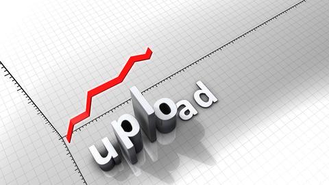 Growing chart graphic animation, Upload Animation