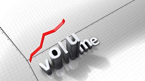 Growing chart graphic animation, Volume Animation