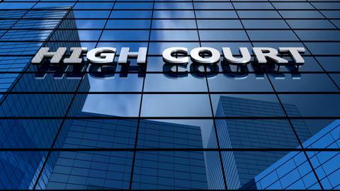 High court building blue sky timelapse Animation
