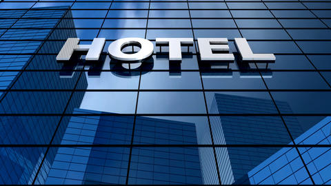 Hotel Building Blue Sky Timelapse stock footage
