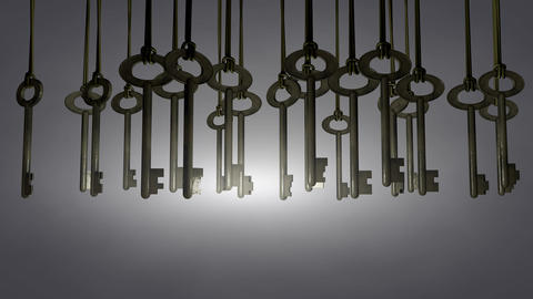 Hanging keys animation. Matte Animation