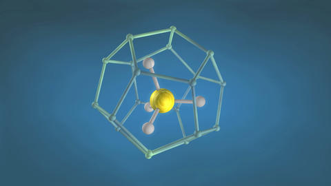 Methane hydrate molecule structure Animation