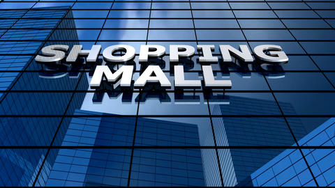 Shopping mall building blue sky timelapse Animation