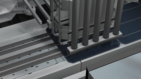 Artist rendering,Solar panel production assembly l Animation