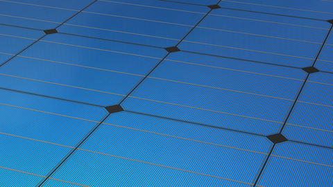 Solar panel and sky background, concept animation Animation