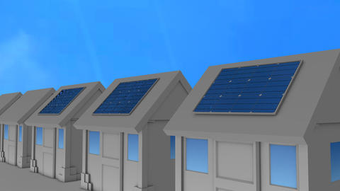 Solar panel installed Animation