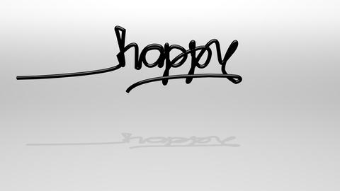 Wire Text Animation, Happy New Year stock footage