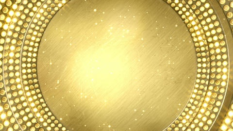golden light bulbs festive loopable background Animation