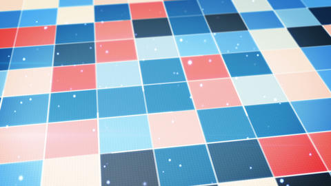 blue orange glowing squares abstract loopable back Animation