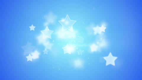 blue stars bokeh shallow DOF loopable background Animation