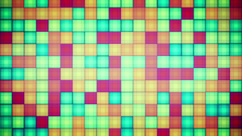 multicolored squares mosaic loopable background Animation