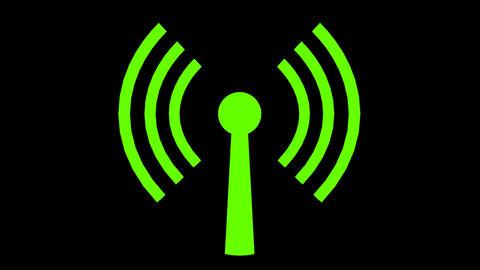 Wifi wireless internet netrwork net connection ico Animation