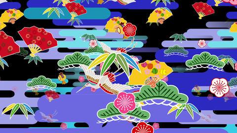 Japanese Pattern Engimono B 1b 4k Animation