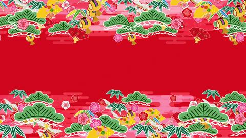 Japanese Pattern Engimono K 1r 4k Animation