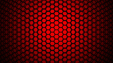 red hexagonal lights Animation