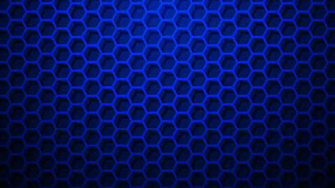 blue hexagonal border Animation