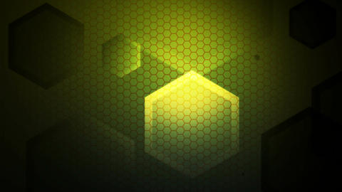 green lights hexagon Animation
