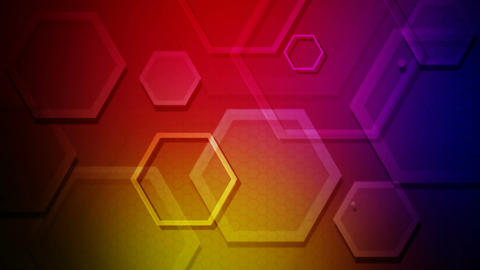 colorful hexagon show Animation