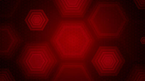 red hexagonal overlay Animation