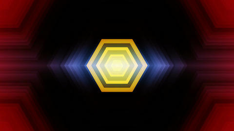 hexagonal tunnel lights Animation