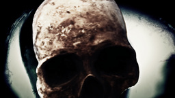 Skull Eye Distorted Nightmare Scary Horror stock footage