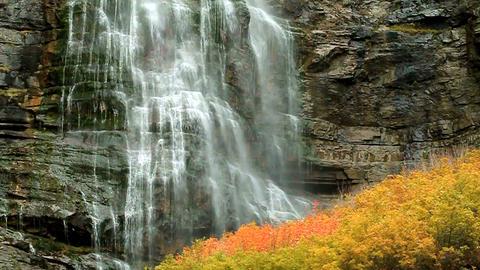 Bridal Veil Falls stock footage