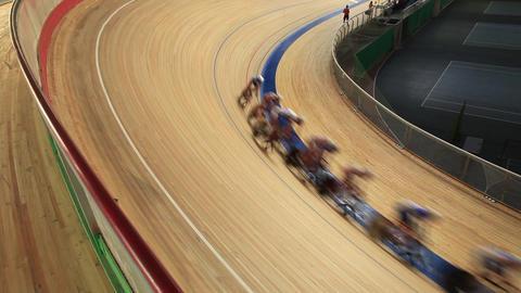 Bike Track Racing stock footage