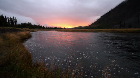 Madison River Sunrise stock footage