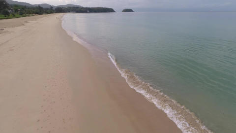 Flying over Karon Beach. Phuket Island. Thailand Footage
