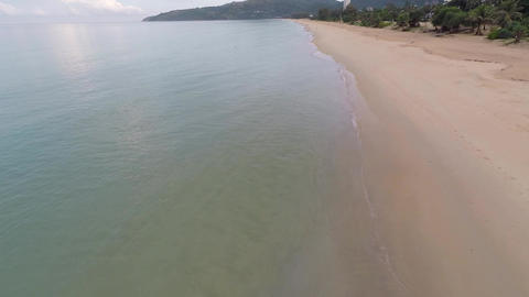 Deserted beach in the morning. Phuket Island. Thai Footage