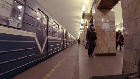 Train in the subway Footage