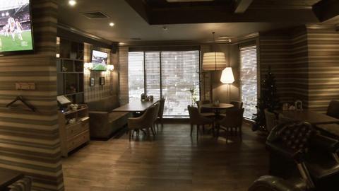 Restaurant, Cafe Evening stock footage