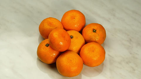 Mandarins In The Form Of A Pyramid stock footage