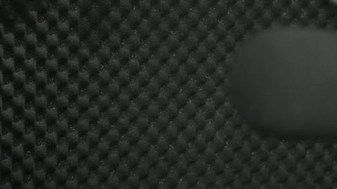 Pan to mic pull focus Footage