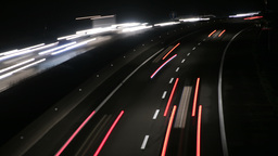 Highway Traffic Cars at Night Time Lapse 4k Footage
