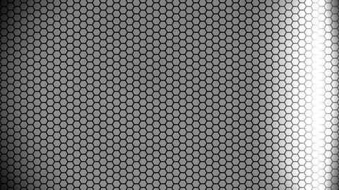 silver hexagon array Animation