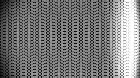 silver hexagon array Animation