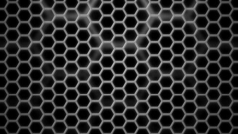 monochrome cellular grid Animation