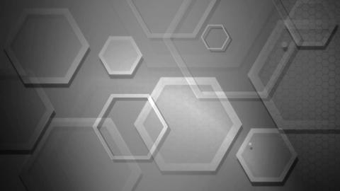 monochrome hexagonal live Animation