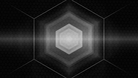 grey hexagonal spot Animation