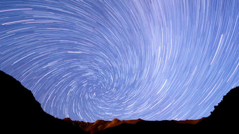 Milky Way In The Mountains. Spiral. Time Lapse. 12 stock footage