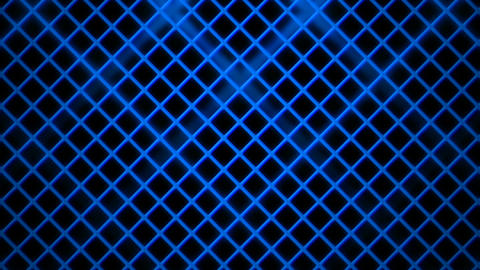 blue rhombus cage Animation