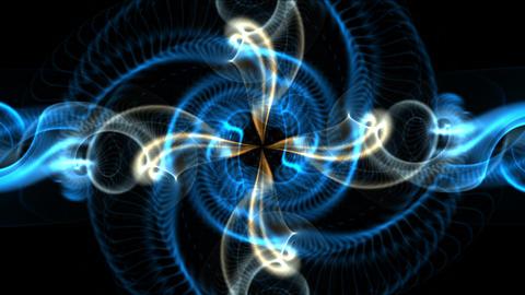 4k Psychedelic spin fancy pattern&smooth yarn,swirl flow smoke,rays laser li Footage