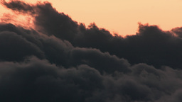 4K Dark Mountain Clouds Cumuli At Dawn stock footage